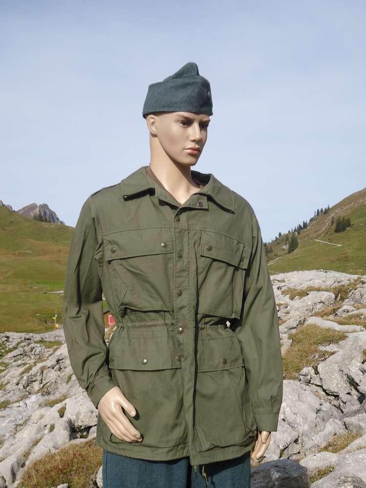 Modell Gebirgsinfanterie Schweizer Oliv 74 Jacke Armee Neuwertig QhdrCts